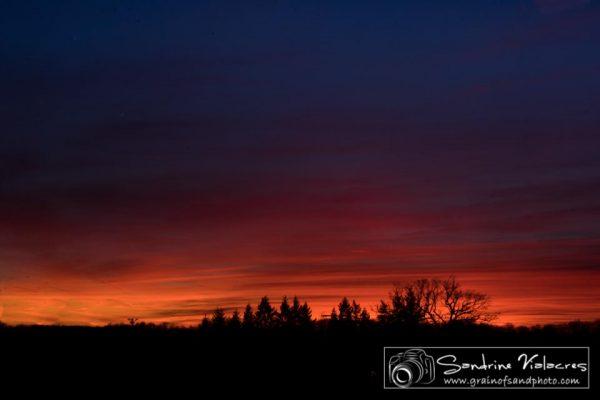 Lanuejouls, coucher de soleil